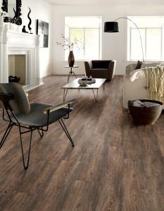 pvc stroken Bruin geruwd hout W66150