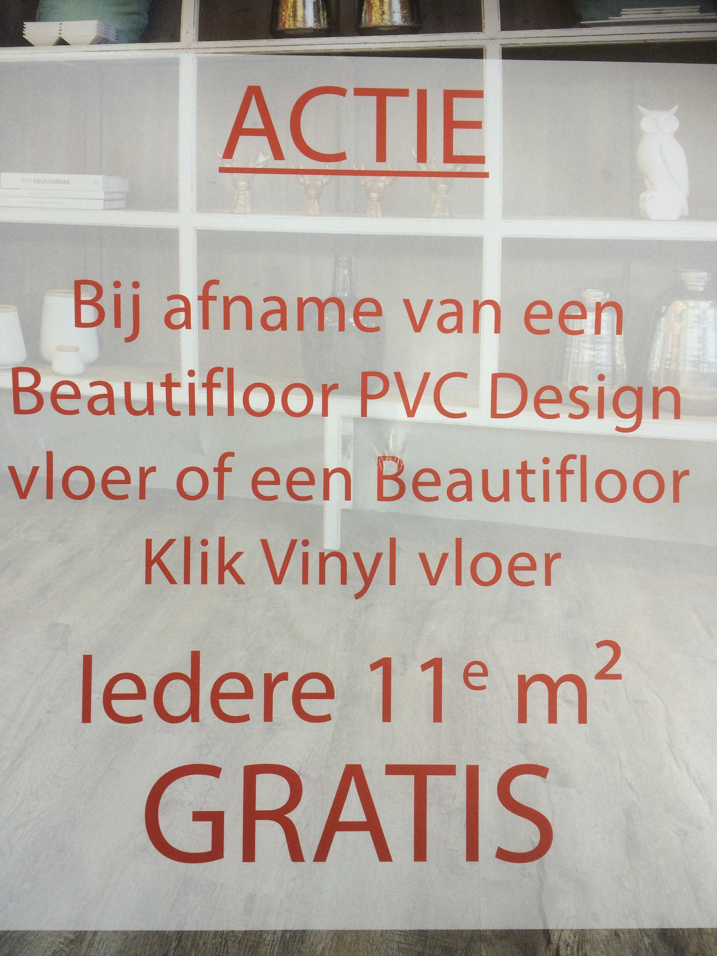 aanbieding beautyfloor klik vinyl en beautyfloor design pvc van