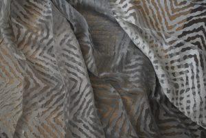 gordijn grijs patroon